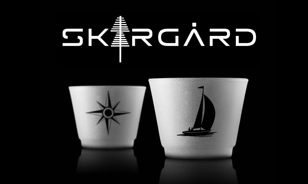 Glas med sjömärken
