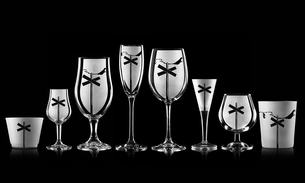 Glas med ledkryss